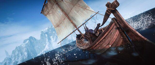 как сесть в лодку в ведьмаке 3